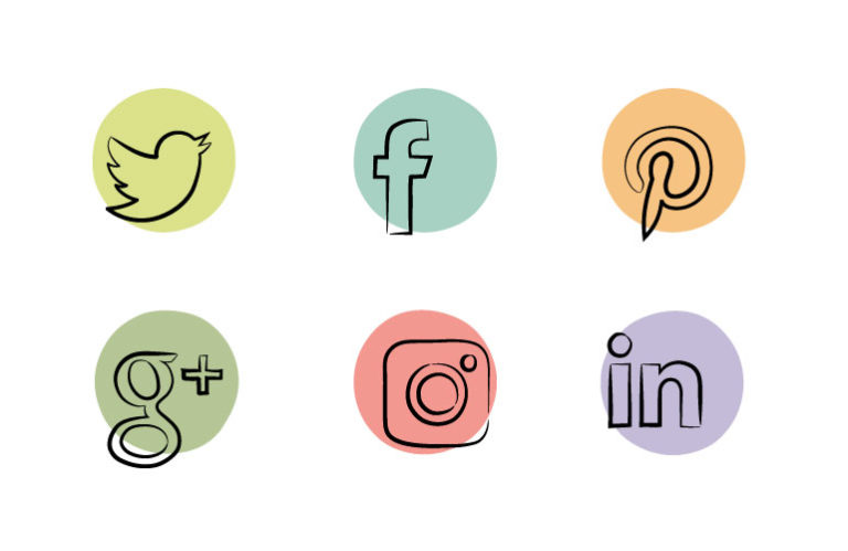 Everett's Fusions social media icons
