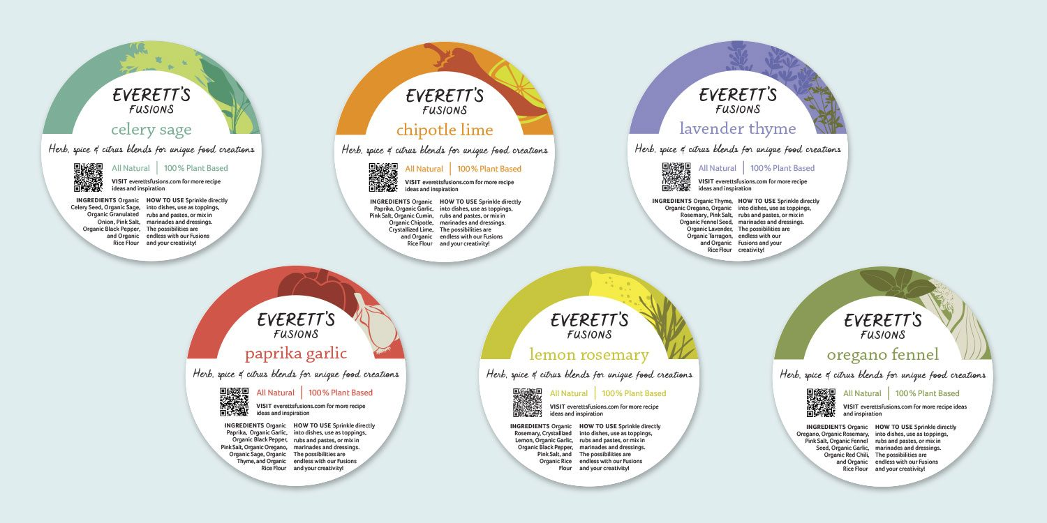 Everett's Fusions - wholesale bulk labels