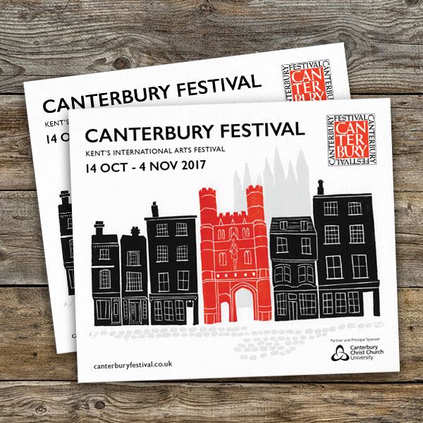 Canterbury Festival brochure artwork