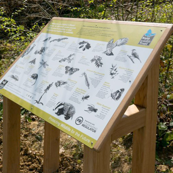 Kent Wildlife Trust - Cromer's Wood interpretation panel