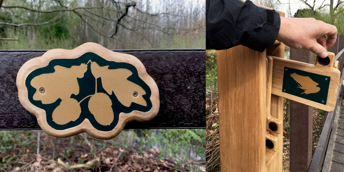 Kent Wildlife Trust - Cromer's Wood species panels