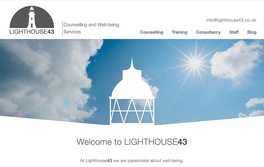 Lighthouse43 website design